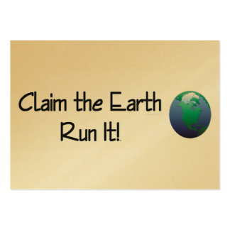 TOP Runner's Earth Business Card Template