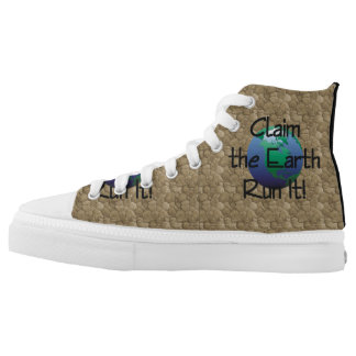 TOP Runner's Earth High-Top Sneakers