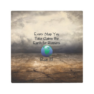 TOP Runner's Earth Metal Print