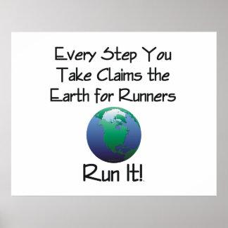 TOP Runner's Earth Poster
