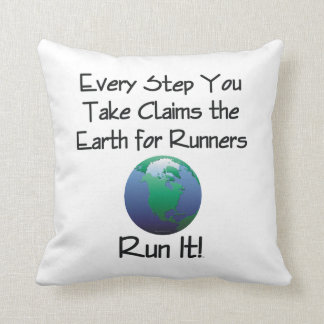 TOP Runner's Earth Throw Pillow