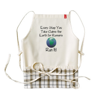 TOP Runner's Earth Zazzle HEART Apron