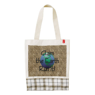 TOP Runner's Earth Zazzle HEART Tote Bag