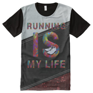 TOP Running is My Life All-Over Print Shirt