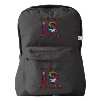 TOP Running is My Life American Apparel™ Backpack