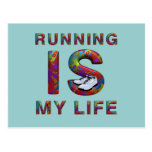 TOP Running is My Life Postcard