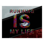 TOP Running is My Life Print