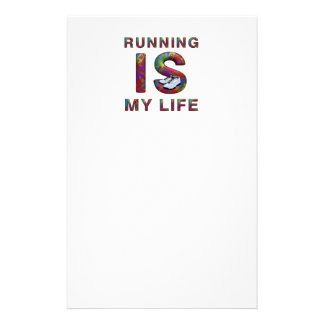 TOP Running is My Life Stationery