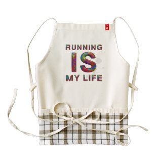 TOP Running is My Life Zazzle HEART Apron