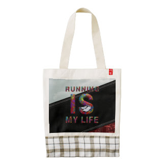 TOP Running is My Life Zazzle HEART Tote Bag