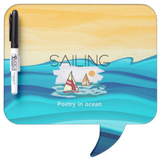 TOP Sail Poetry Dry Erase Board