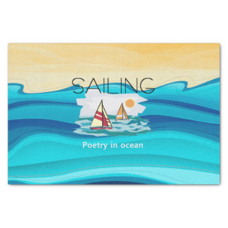TOP Sail Poetry Tissue Paper