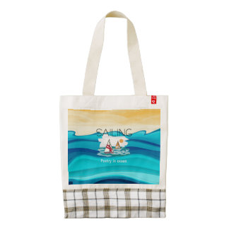 TOP Sail Poetry Zazzle HEART Tote Bag