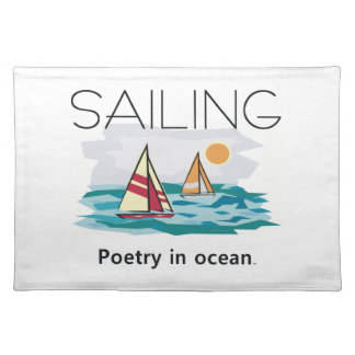 TOP Sailing Poetry Cloth Placemat