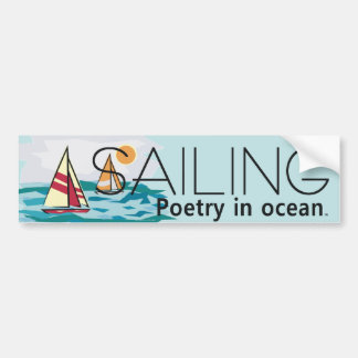 TOP Sailing, Poetry in Ocean Bumper Sticker