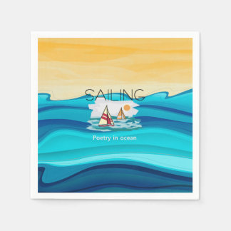 TOP Sailing Poetry Napkin
