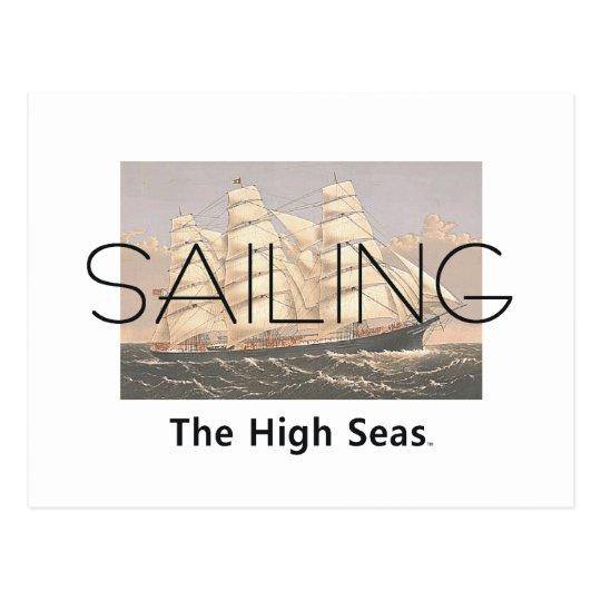 TOP Sailing Seas Postcard