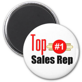 Top Sales Rep 2 Inch Round Magnet