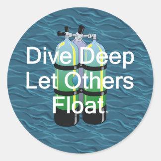 TOP Scuba Diving Classic Round Sticker