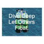 TOP Scuba Diving Large Business Card