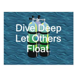 TOP Scuba Diving Postcard