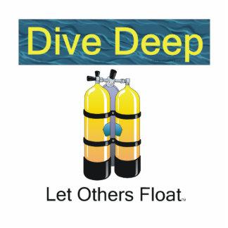 TOP Scuba Diving Standing Photo Sculpture