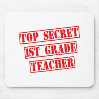 Top Secret 1st Grade Teacher Mouse Pad