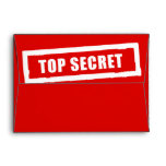 Top Secret Any Color Holiday Red Invitation Card Envelope