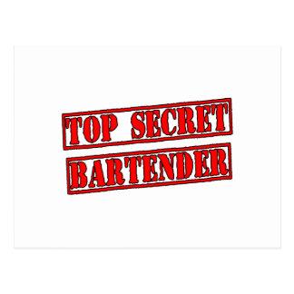 Top Secret Bartender Postcard
