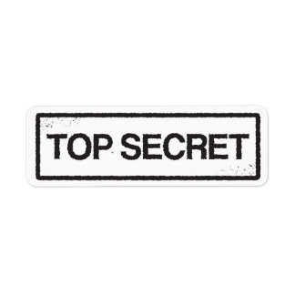 Top secret black stamp label