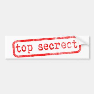 Top Secret Car Bumper Sticker