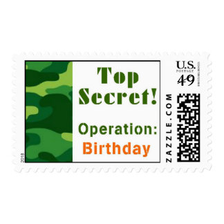 Top Secret Camoflage Party Postage