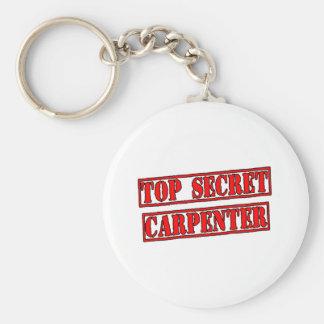 Top Secret Carpenter Basic Round Button Keychain