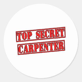 Top Secret Carpenter Classic Round Sticker