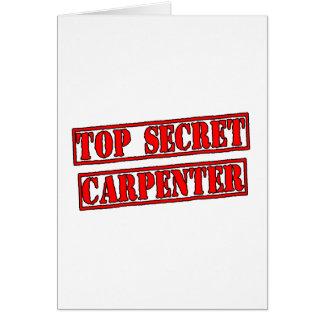 Top Secret Carpenter Greeting Card