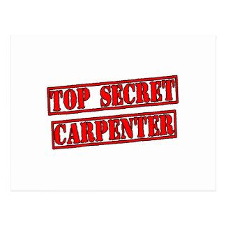 Top Secret Carpenter Postcard