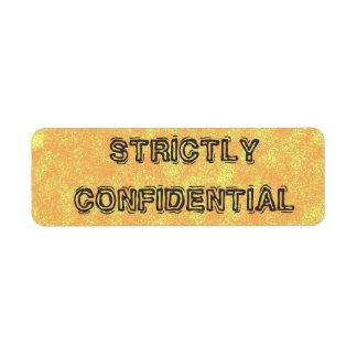 Top Secret Confidential Labels