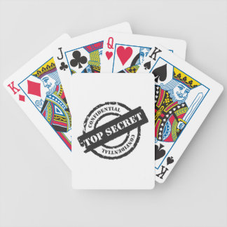 Top Secret Confidential Bicycle Playing Cards
