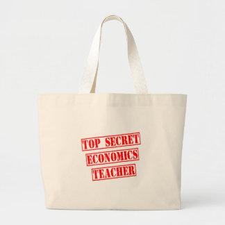 Top Secret Economics Teacher Canvas Bag