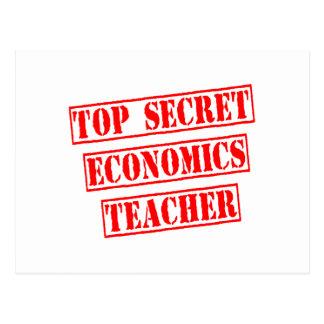 Top Secret Economics Teacher Postcard