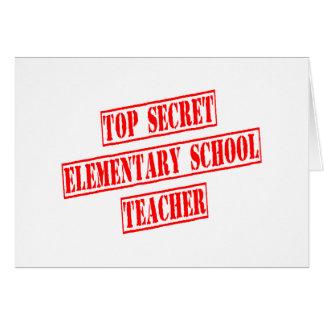 Top Secret Elementary School Teacher Card