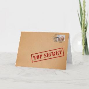 Top Secret Envelope Greeting Card