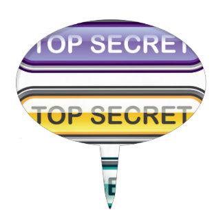 Top Secret Glossy Button Cake Topper