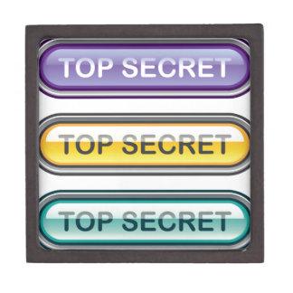 Top Secret Glossy Button Jewelry Box