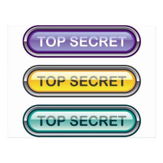 Top Secret Glossy Button Postcard