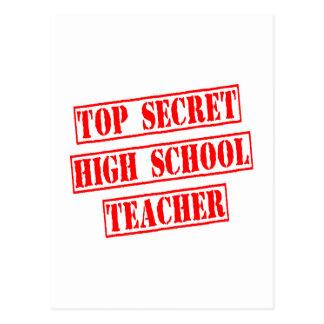 Top Secret High School Teacher Postcard