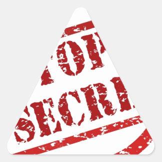 Top Secret image Triangle Sticker