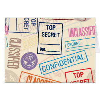 Top Secret - Keep Out Greeting Card