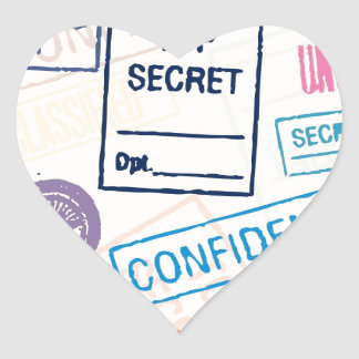 Top Secret - Keep Out Heart Sticker