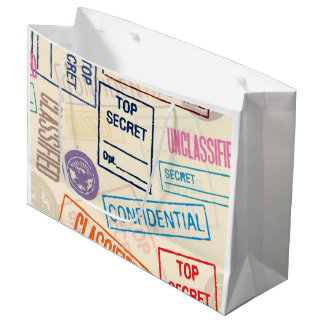 Top Secret - Keep Out Large Gift Bag